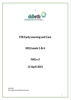 ETB Early Learning and Care NFQ Levels 5 & 6 FAQ v.2