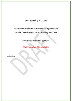 Draft Assessment Booklet